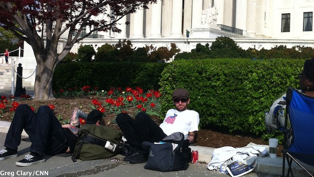 Camping out before the landmark health care case