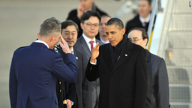 Obama arrives in South Korea for nuclear summit