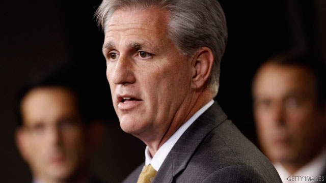 No. 3 House Republican backs Romney