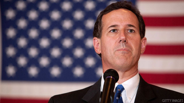 Santorum takes campaign to steps of U.S. Supreme Court