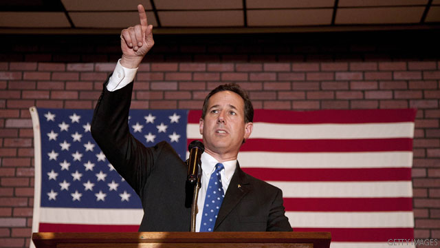 Santorum accuses reporter of 'harassing'