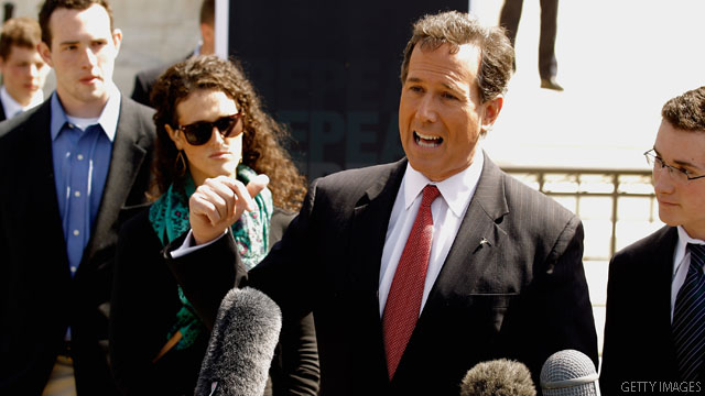 Santorum&#039;s private meetings focused on his way forward
