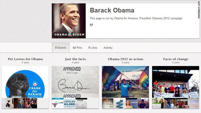 Obama joins Pinterest