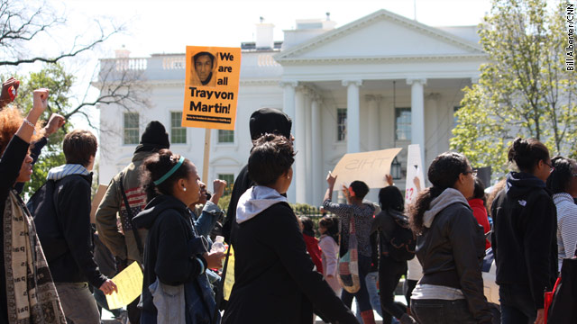 Trayvon Martin protest at the White House