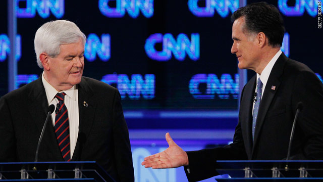 Gingrich tells Romney he will back him