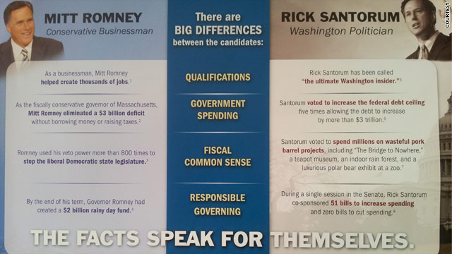 Romney and allies attack Santorum on all fronts