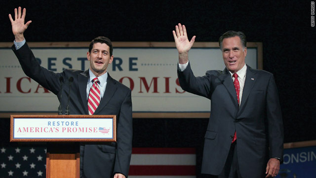 Romney, Ryan speak of 'courage' required for entitlement reform