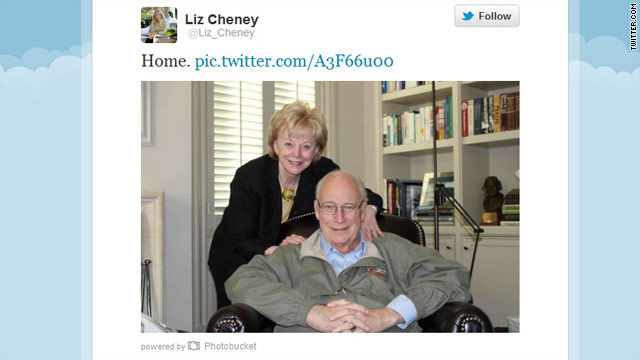 Cheney released from hospital after heart transplant