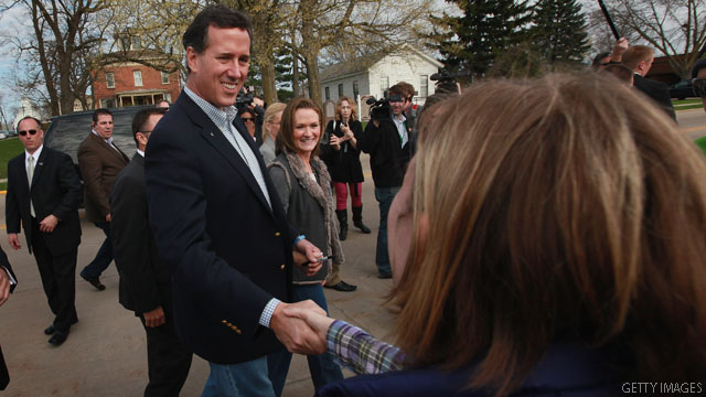 Team Obama: Santorum withdrew under barrage of attack ads from Romney
