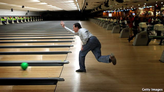 Santorum enjoys three strikes