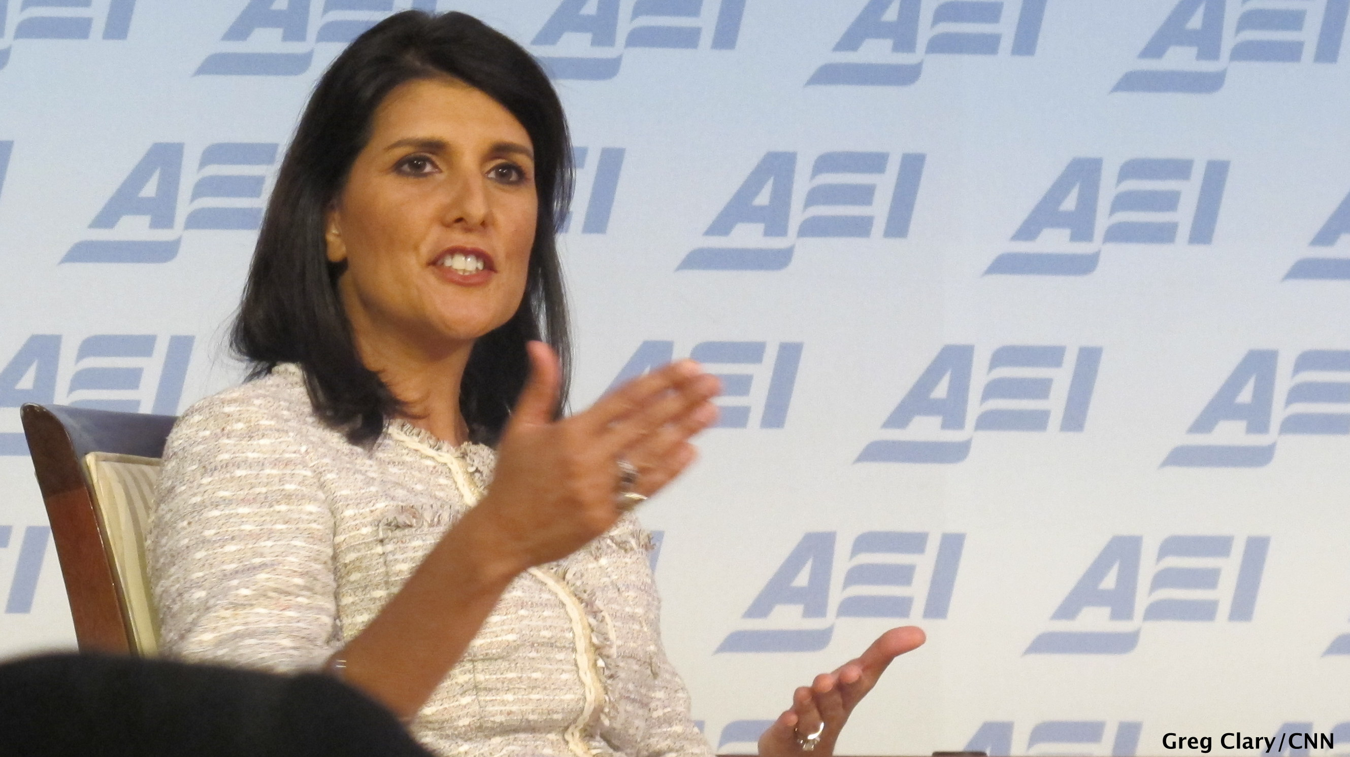 Haley talks Romney and tea party support