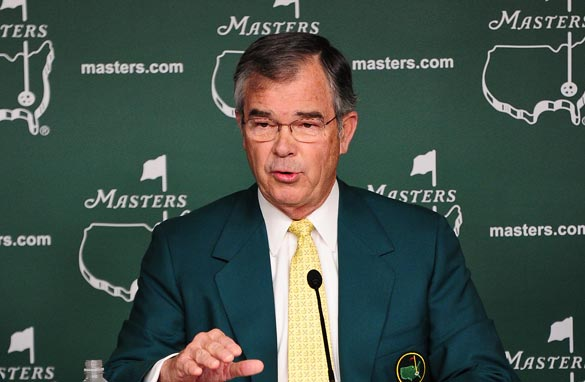 Augusta National chairman Billy Payne sidestepped questions about female members in his pre-tournament press conference.