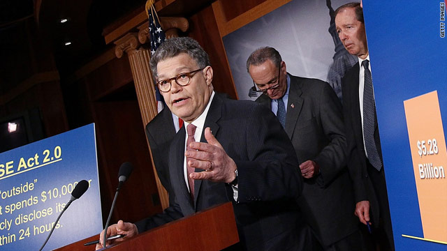 Franken finds funny voice in campaign e-mails