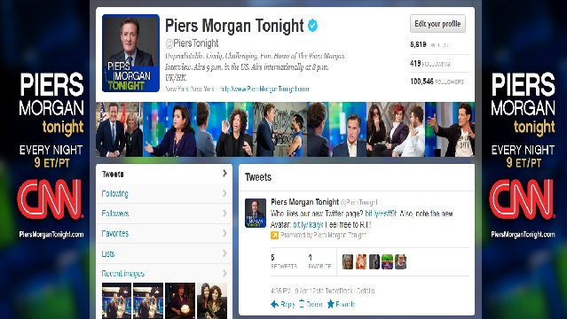 """Piers Morgan Tonight"" launches Facebook Timeline, Enhanced Twitter Profile"