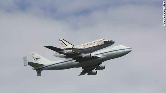 Discovery, as seen from the Pentagon