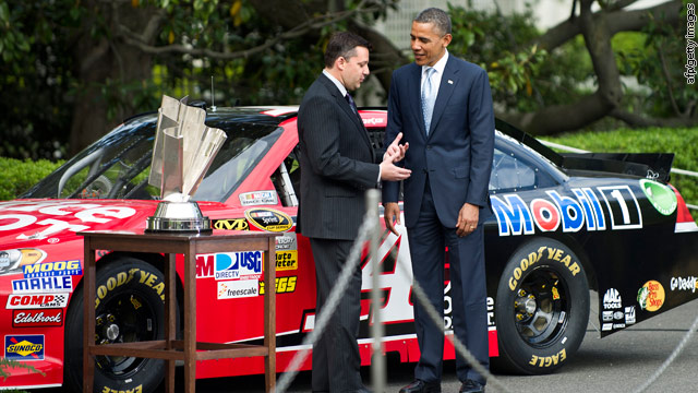 NASCAR rolls into the White House