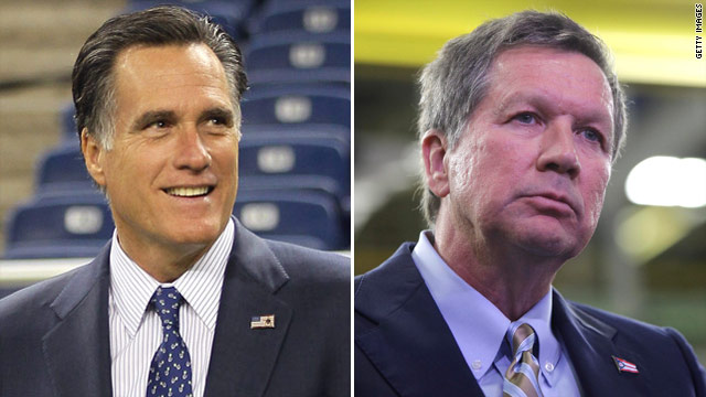 Ohio governor, lieutenant gov back Romney