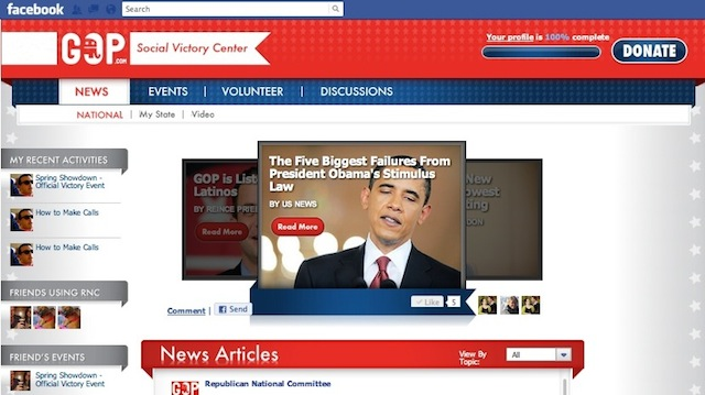 RNC looks to Facebook for political edge