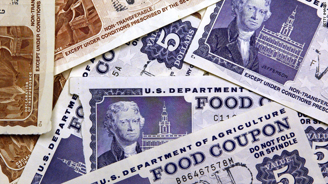 What does it mean when one in seven people in the U.S. gets food stamps?