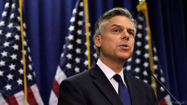 Huntsman&#039;s tough talk for GOP on taxes