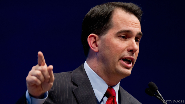 Wisconsin's Gov. Walker argues for 'relevant' conservative message