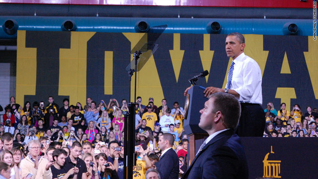 Obama wraps up college tour to battleground states