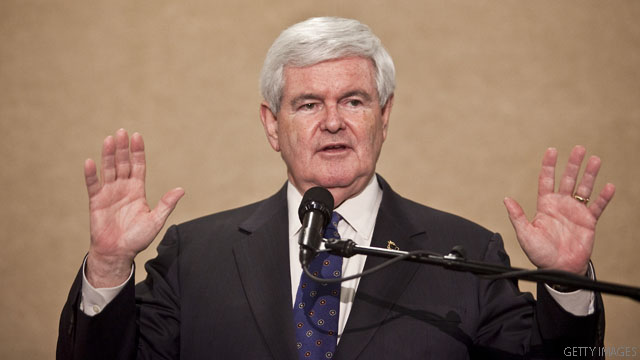 Gingrich hints he'll soon withdraw from race, talks of coming 'transition'
