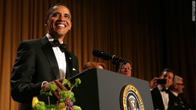 The POTUS with the most-est preparing his comedy monologue