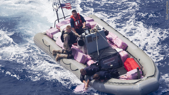U.S. Navy helps to seize nearly 5,000 pounds of cocaine