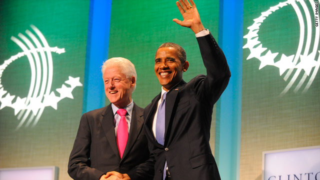 Obama, Bill Clinton join forces as Romney-Obama race heats up