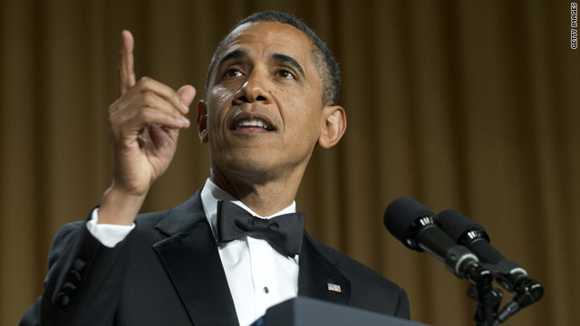2012 race makes fodder for Obama, Kimmel