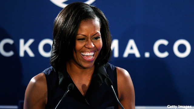 First lady continues battleground state campaign swing