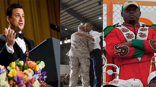 The AC360 Weekly Buzz: President in Afghanistan, OBL death anniversary, alleged hazing death charges, Junior Seau, Jimmy Kimmel