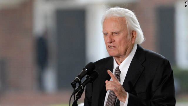 Billy Graham backs North Carolina amendment to ban gay marriage