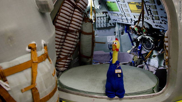 A rubber chicken: NASA's favorite mascot