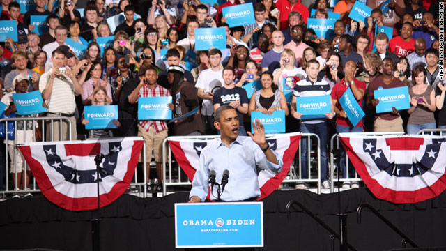 Obama outlines case for re-election at first official campaign rally