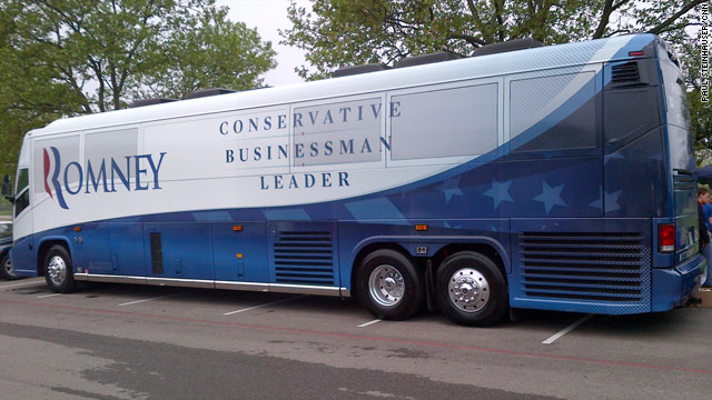 Romney bus welcomes Obama to Ohio