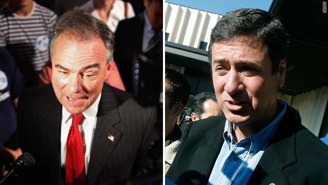 Va. Senate debate: Kaine open to minimum tax, Allen sidesteps Romney