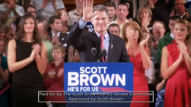 Brown touts being 'independent' in first re-election ad