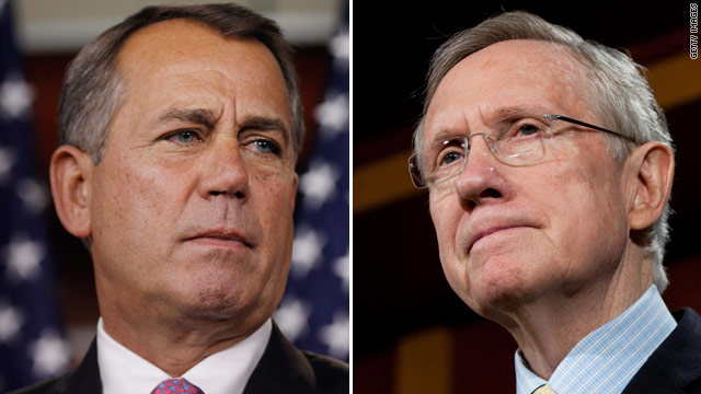 Opposing same-sex marriage not priority for Boehner, Reid evolves