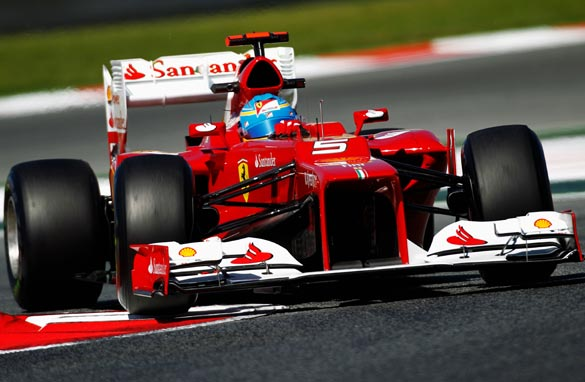 Ferrari&#039;s Fernando Alonso hopes for more improvements in Barcelona. (Getty Images)