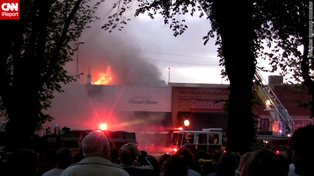 Row caught fire again on Tuesday, more than a century after the street w