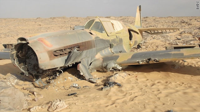 DISCOVERED:  Crashed WWII fighter plane intact in desert