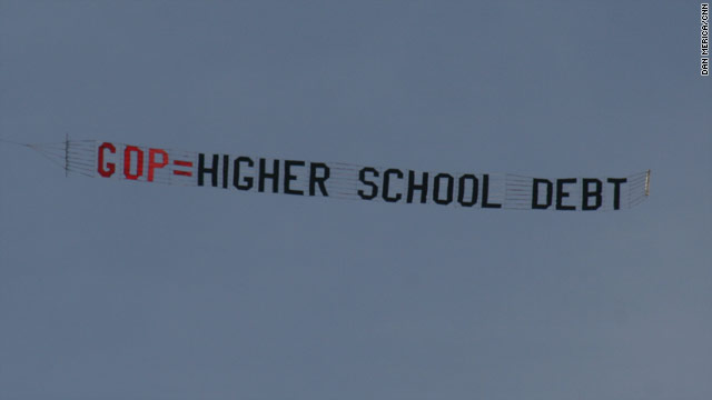 Photo: Overhead at Romney commencement address