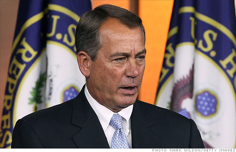 Boehner to tell fiscal summit: no increase in debt ceiling without spending cuts, reforms