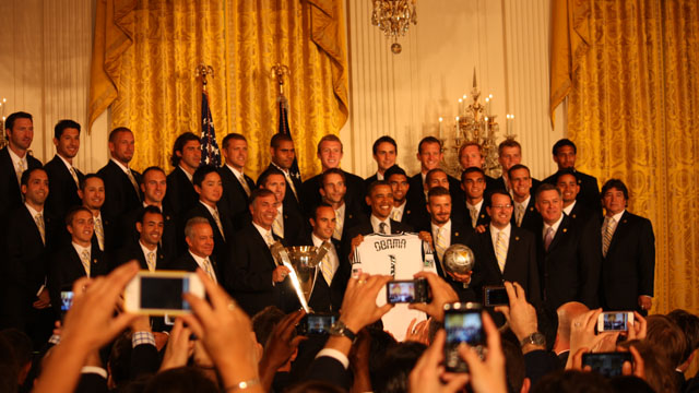 Soccer stars at the White House