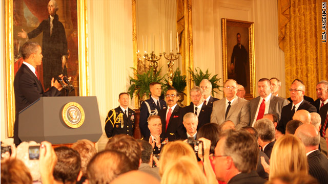 Honoring a hero at the White House 43 years late