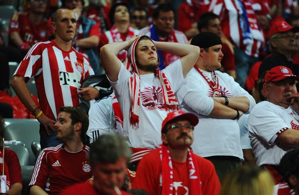 Bayern Munich fans were left disappointed after their team dominated the match. (Getty Images)