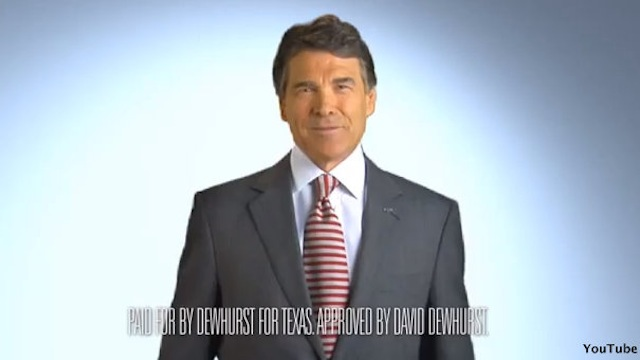 Perry makes voice heard in Texas Senate race