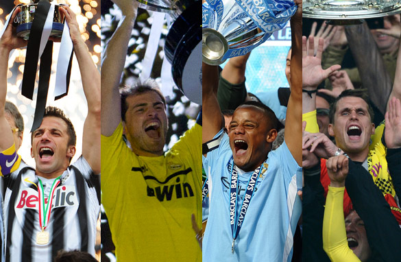 Juventus, Real Madrid, Manchester City and Borussia Dortmund all celebrated titles this season. (Getty Images)